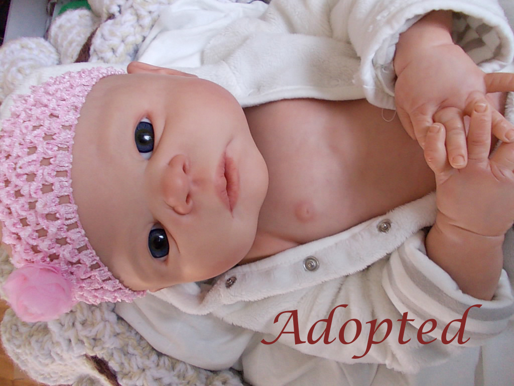 reborn baby Victoria by Sheila Michaels